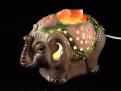 Соляная лампа Слоник (в керамике)