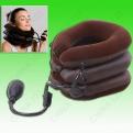 Воротник надувной для вытяжки шейного отдела при остеохондрозе (коричневый,полуфлок)