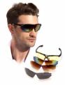 Очки спортивные солнцезащитные с 5 сменными линзами в чехле, черные