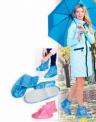 Чехлы грязезащитные для женской обуви без каблука, размер L,M