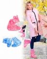 Чехлы грязезащитные для женской обуви - сапожки, размер M,L,XL цвет розовый